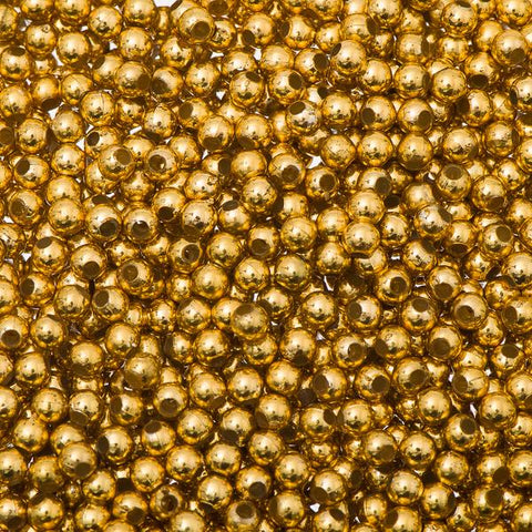 3mm Craft Pearls Metallic Gold