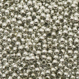 3mm Craft Pearls Metallic Silver
