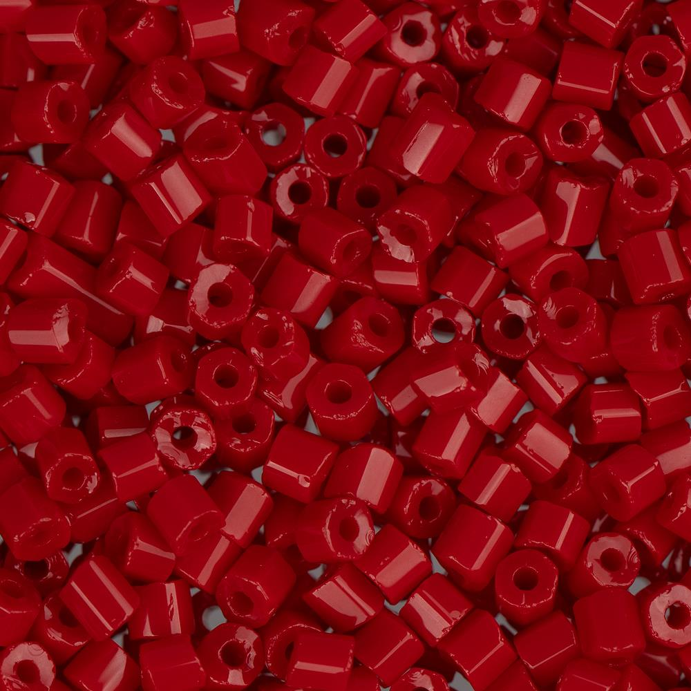 10/0 Czech 2 Cut Seed Beads Opaque Red 22g