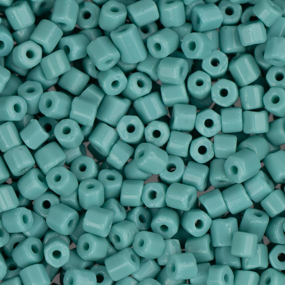 10/0 Czech 2 Cut Seed Beads Opaque Turquoise 22g