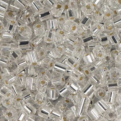 10/0 Czech 2 Cut Seed Beads Silver Lined Crystal 22g