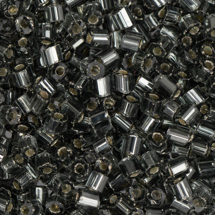 10/0 Czech 2 Cut Seed Beads Silver Lined Grey 22g
