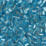 10/0 Czech 2 Cut Seed Beads Silver Lined Light Aqua 22g - i-Bead,  LIGHT AQUA