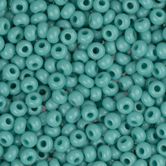 10/0 Czech Seed Beads Opaque Turquoise 22g