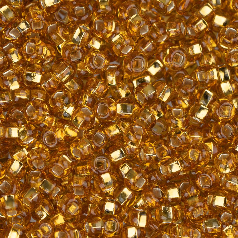 10/0 Czech Seed Beads Silver Lined Gold 22g