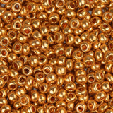 10/0 Czech Seed Beads Metallic Gold 22g - i-Bead,  GOLD