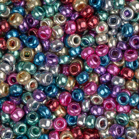 10/0 Czech Seed Beads Metallic Mix 22g - i-Bead,  MULTI