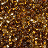 10/0 Czech Seed Beads Silver Lined Topaz Mix 22g - i-Bead,  TOPAZ