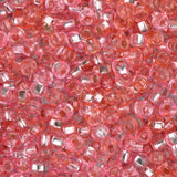 10/0 Czech Seed Beads Silver Lined Pink Mix 22g - i-Bead,  PINK