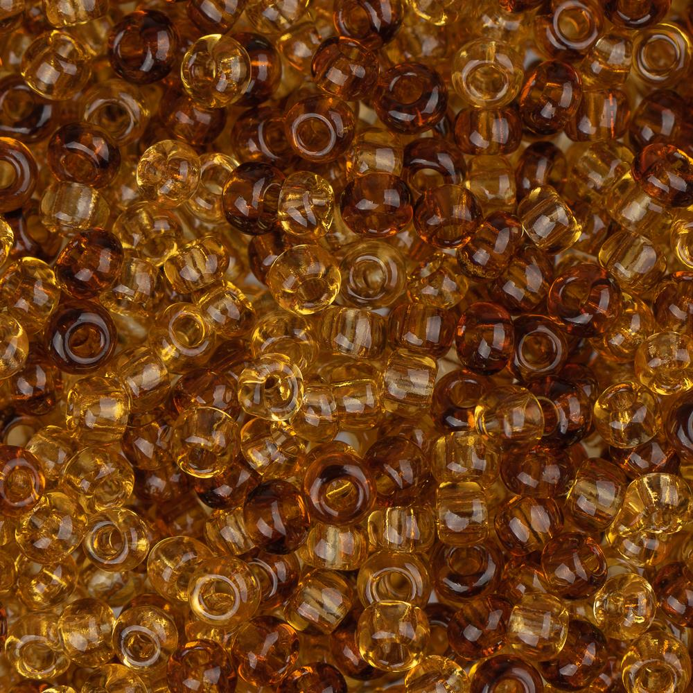 10/0 Czech Seed Beads Tr Topaz Mix 22g