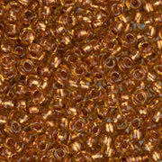 10/0 Czech Seed Beads Copper Lined Topaz 22g - i-Bead,  TOPAZ