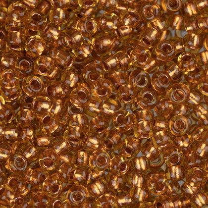 10/0 Czech Seed Beads Copper Lined Topaz 22g