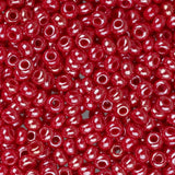 10/0 Czech Seed Beads Pearl Red 22g - i-Bead,  RED
