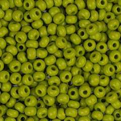 10/0 Czech Seed Beads Opaque Olive Green 22g