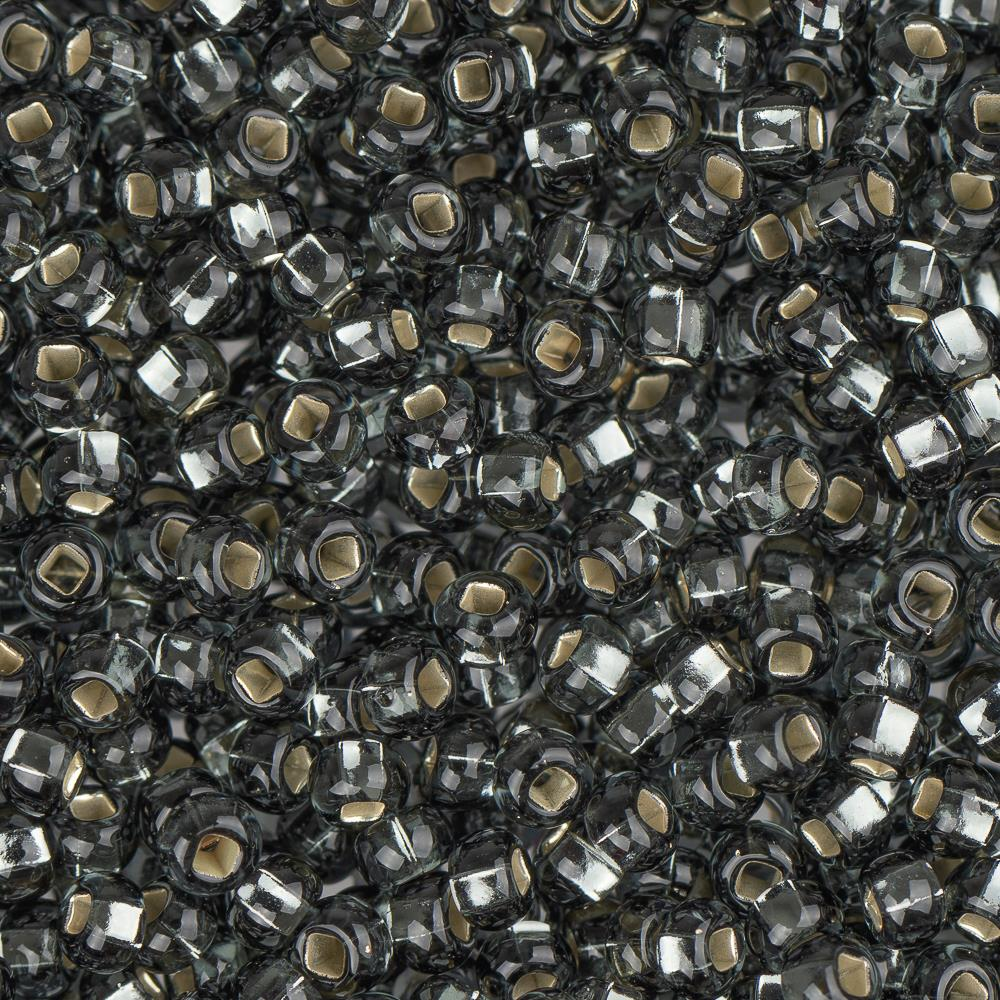 10/0 Czech Seed Beads Silver Lined Grey 22g