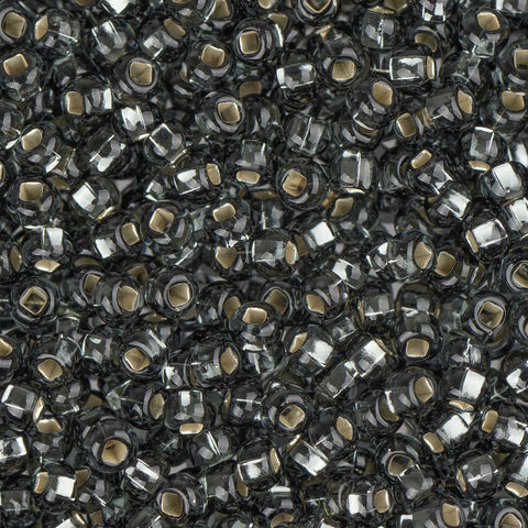 10/0 Czech Seed Beads Silver Lined Grey 22g - i-Bead,  GREY