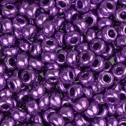8/0 Czech Seed Beads Metallic Purple 22g