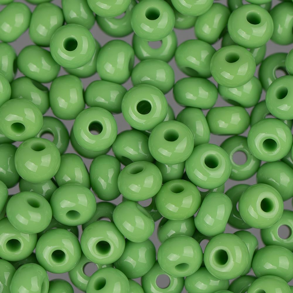 6/0 Czech Seed Beads Opaque Light Green 22g