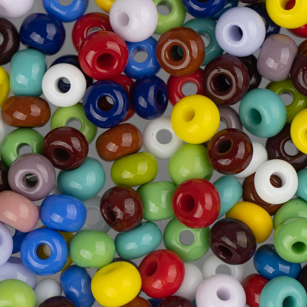 6/0 Czech Seed Beads Opaque Multi Mix 22g