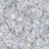 6/0 Czech Seed Beads Transparent Crystal AB 22g