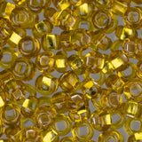 6/0 Czech Seed Beads Silver Lined Yellow 22g