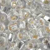 2/0 Czech Seed Beads Silver Lined Crystal 22g - i-Bead,  CRYSTAL