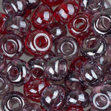 2/0 Czech Seed Beads Tr Luster Red Mix 22g - i-Bead,  RED