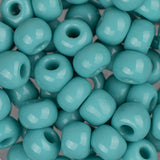 2/0 Czech Seed Beads Opaque Turquoise 22g - i-Bead,  TURQUOISE