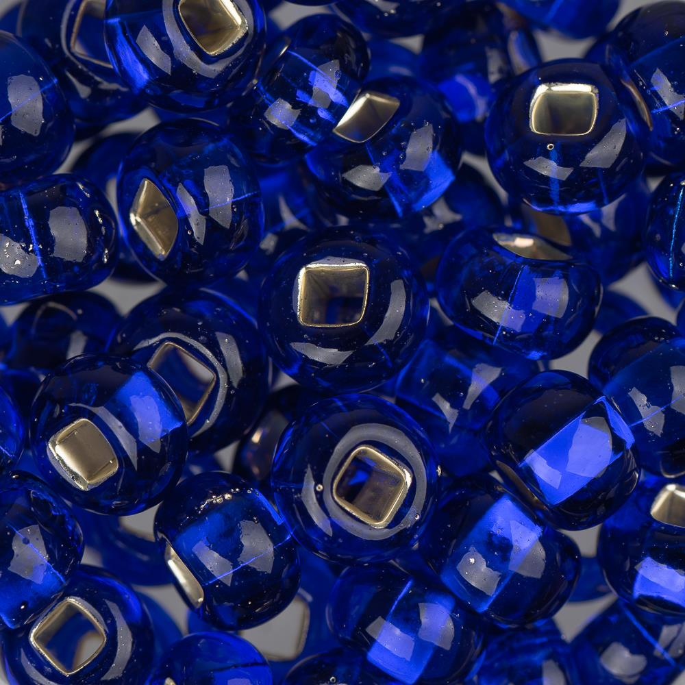 2/0 Czech Seed Beads Silver Lined Dark Royal Blue 22g