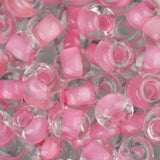 2/0 Czech Seed Beads Pink Lined Crystal 22g - i-Bead,  CRYSTAL