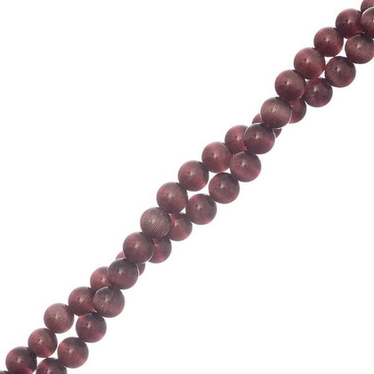6mm Cat's Eye Beads Purple 66/Strand