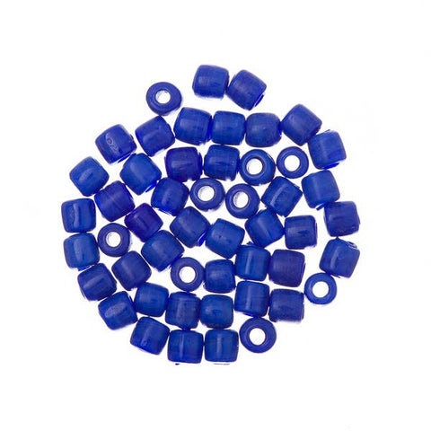 Glass Tile Beads Opaque Royal Blue 50/pk