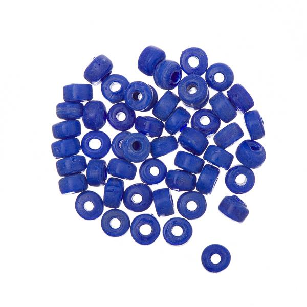 Glass Mini Pony Beads Opaque Royal Blue 50/pk