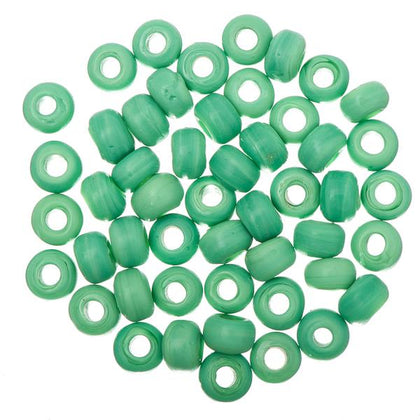 Glass Pony Beads Opaque Medium Green 50/pk
