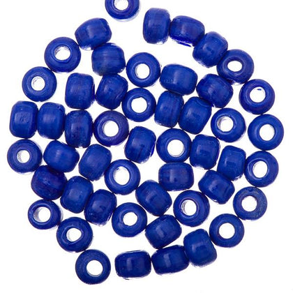 Glass Pony Beads Royal Blue 50/pk