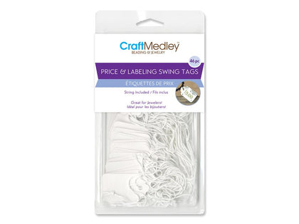32x45mm White Hang Tags 46/pk