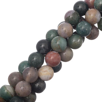 10mm Round Indian Agate Gemstone Beads