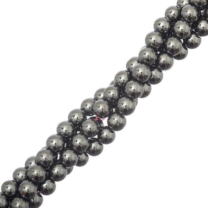 6mm round Hematite Gemstone Beads