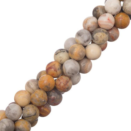 8mm round Crazy Lace Agate Gemstone Beads