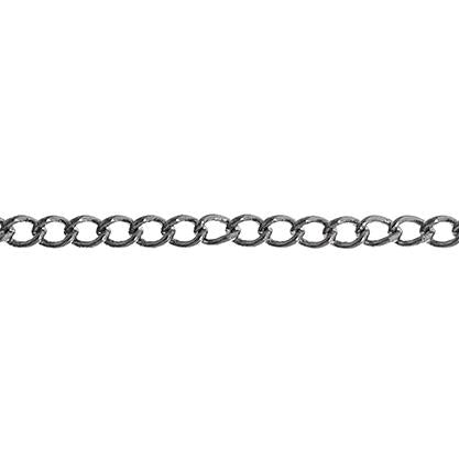 2x3mm Hematite Curb Chain 1m