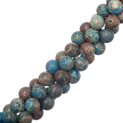 8mm Chrysocolla (Natural/Dyed) Beads 15-16