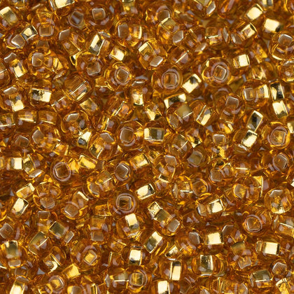 10/0 Czech Seed Beads Silver Lined Gold 500g