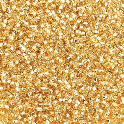 10/0 Czech Seed Beads Silver Lined Light Gold 500g