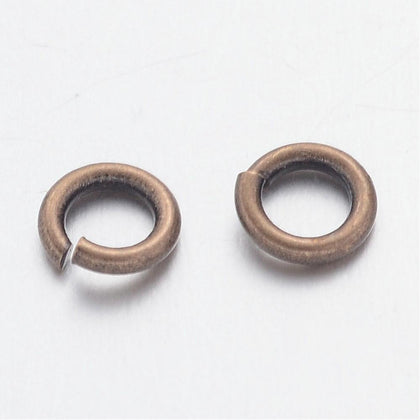 4mm Antique Brass Jump Rings 100 Grams