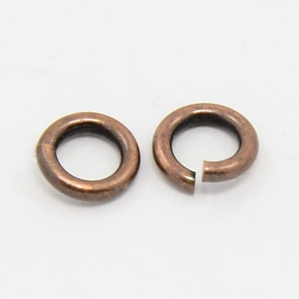 4mm Antique Copper Jump Rings 100 Grams