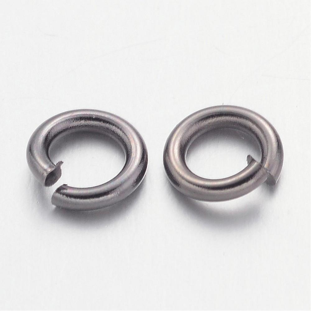 5mm Gunmetal Jump Rings 100 Grams