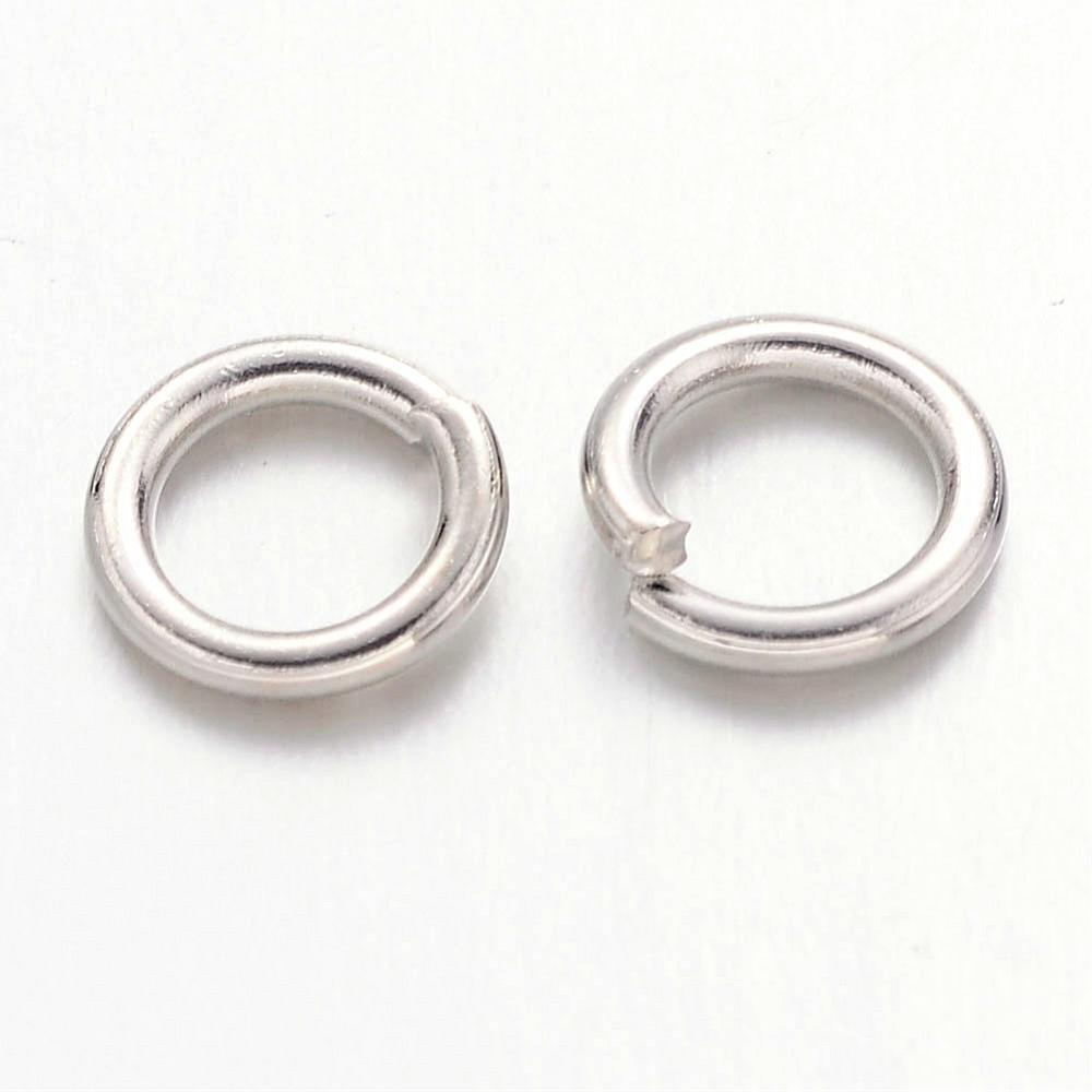 6mm Nickel Jump Rings 100 Grams