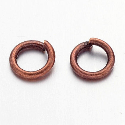 6mm Antique Copper Jump Rings 100 Grams