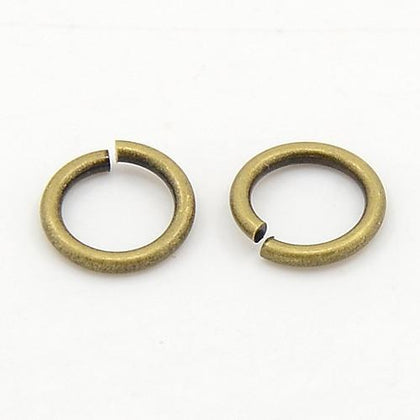 7mm Antique Brass Jump Rings 100 Grams