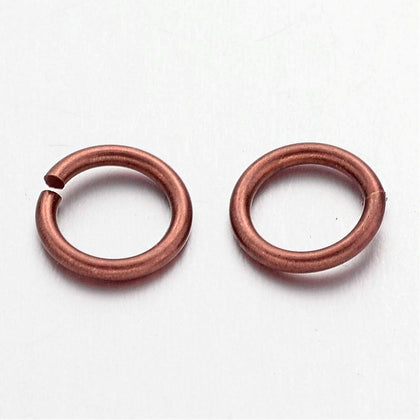 7mm Antique Copper Jump Rings 100 Grams